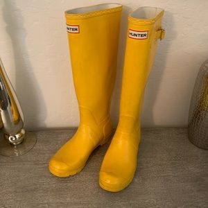 Hunter Tall Boots Yellow
